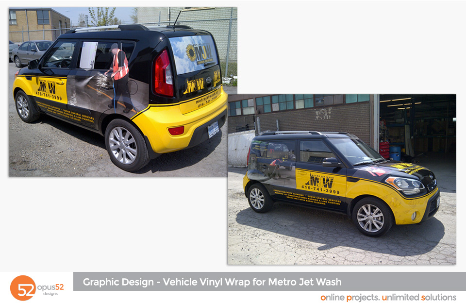 vehicle vinyl wraps | Opus52 Designs